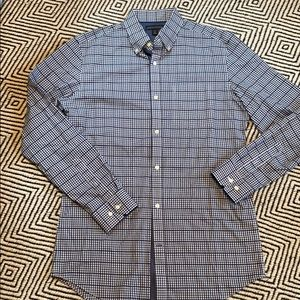 Banana republic navy gingham dress shirt